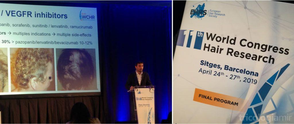 Joan Mir como ponente sobre reacciones capilares por fármacos diana en el 11th World Congress Hair Research en Sitges, Abril de 2019.