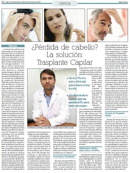 Reportaje trasplante capilar. Dr. José