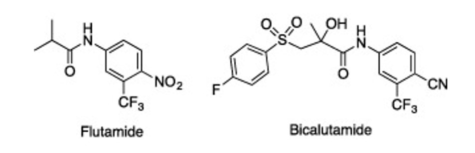 La bicalutamida es un antiandrógeno que forma de parte de la familia de la flutamida.